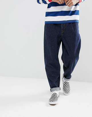 Asos DESIGN Recycled Oversized Jeans In Dark Wash