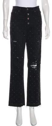 Amiri Embellished High-Rise Jeans