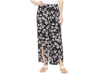 Mod-o-doc Printed Rayon Tulip Hem Pull-On Cropped Pants Women's Casual Pants
