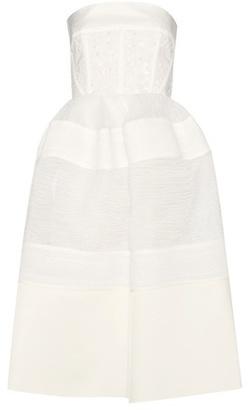 Fil coupé cotton-blend dress