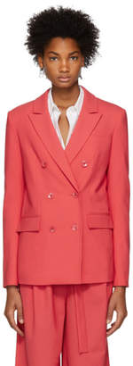 Tibi Pink Double-Breasted Suit Blazer