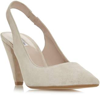 Dune Damson Cone Heel Sling Back Shoes