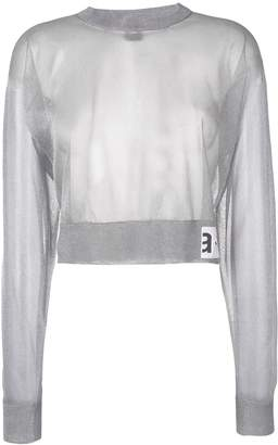 Artica Arbox cropped sheer sweater