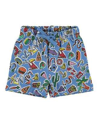 Stella McCartney Toy & Food Print Shorts, Size 12-36 Months