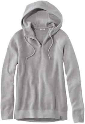 L.L. Bean L.L.Bean Women's Wanderer Quarter-Zip Sweater Hoodie