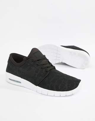 Nike Sb SB Stefan Janoski Max Skateboarding Sneakers In Black 631303-022