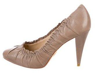 Pour La Victoire Leather Semi Pointed-Toe Pumps $65 thestylecure.com