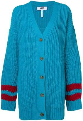 MSGM striped sleeve cardigan