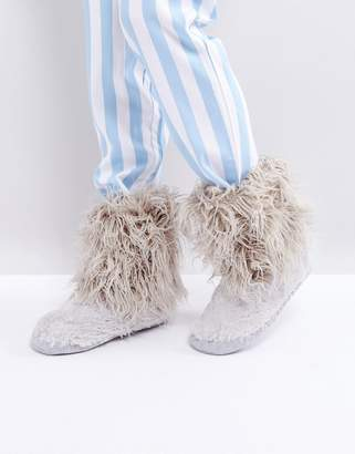 Bedroom Athletics Jean Short Faux Fur Boot