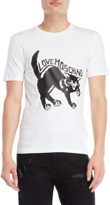 Love Moschino Feisty Cat Tee
