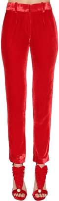 Ingie Paris HIGH WAIST VELVET PANTS