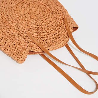 Warehouse Straw Circle Shopper
