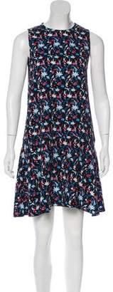 Tanya Taylor Floral Print Sleeveless Dress