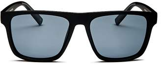 Le Specs Men's The Boss Polarized Flat Top Square Sunglasses, 56mm