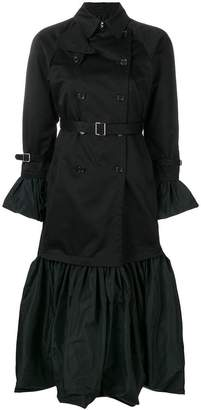 Comme des Garcons layered effect trench coat