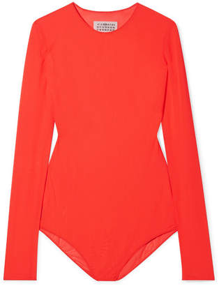 Maison Margiela Neon Stretch-mesh Bodysuit - Bright orange