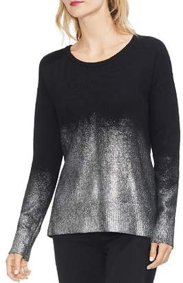 Vince Camuto Drop-Shoulder Foiled Ombre Sweater