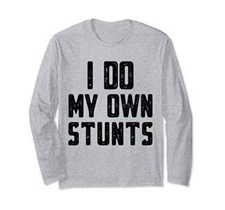 I Do My Own Stunts T-shirt Broken Arm Gifts Funny Injury Long Sleeve T-Shirt