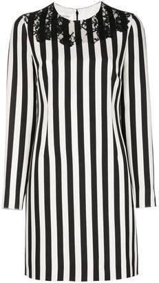Valentino striped long sleeved dress