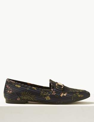 Marks and Spencer Floral Print Metal Trim Loafers