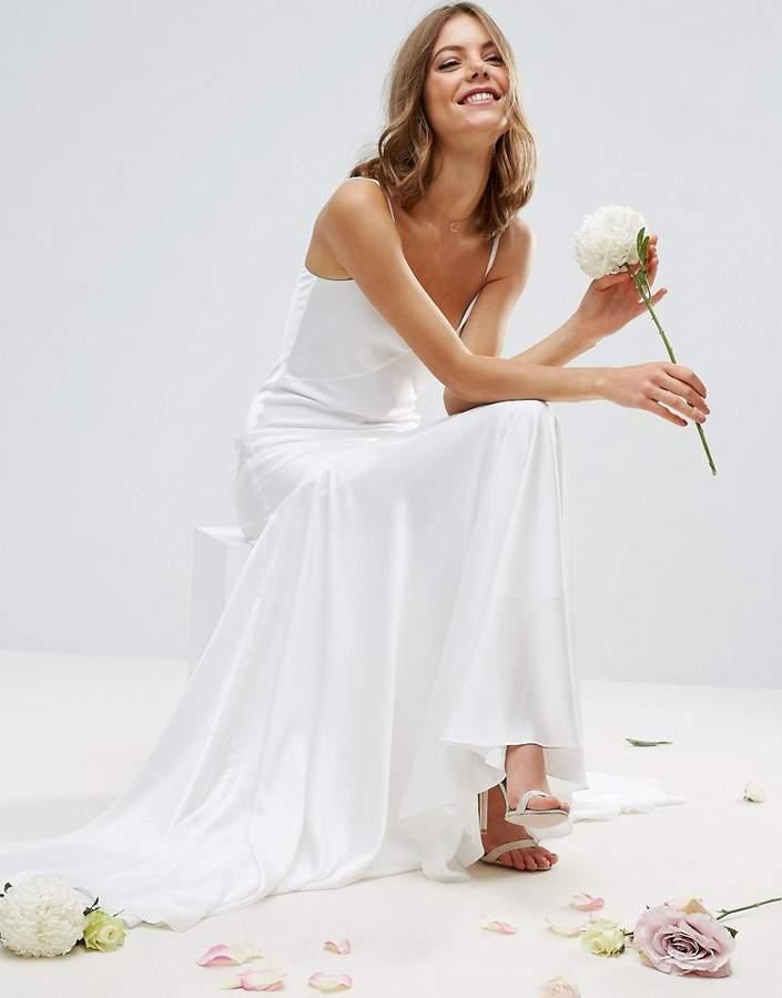 AsosASOS BRIDAL Cami Paneled Fishtail Maxi Dress