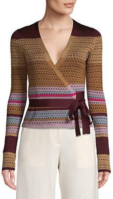 Diane von Furstenberg Textured Wrap Sweater