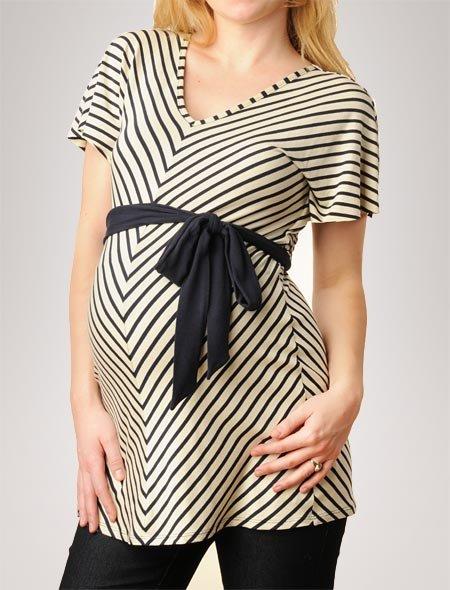 Apeainthepod Weston Wear Short Sleeve V-neck Flutter Sleeve Maternity Tunic