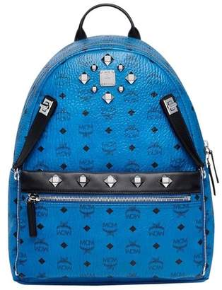 MCM Dual Stark Backpack Medium Stud Munich Blue