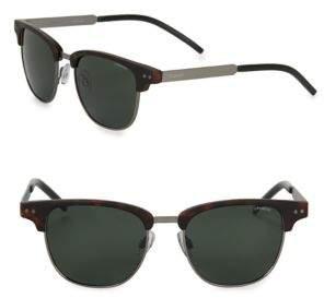 Polaroid 51MM Horn-Rimmed Clubmaster Sunglasses