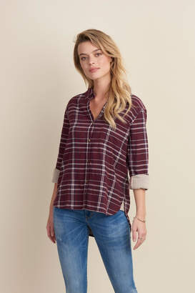 Hatley Sadie Burgundy-Plaid Blouse