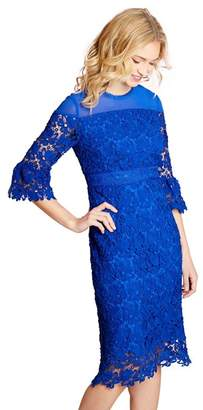 Yumi Blue Floral Lace 'Guinevere' Shift Dress