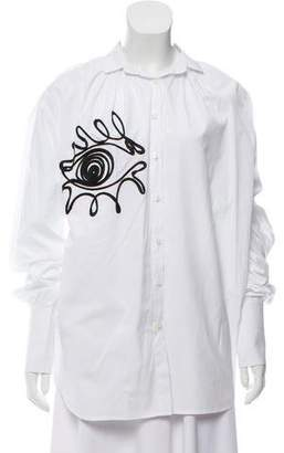 Tome Embroidered Button-Up Top