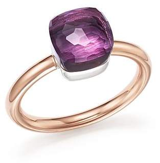 Pomellato Nudo Mini Ring with Faceted Amethyst in 18K Rose and White Gold
