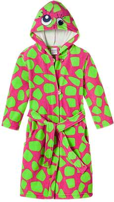 Schiesser Girl's Bathrobe - Red - Rot (Pink 504) - 18-24 Months