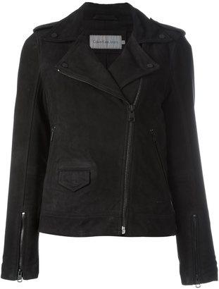 Calvin Klein Jeans biker jacket $456.34 thestylecure.com