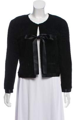 Chanel Cropped Shearling Jacket