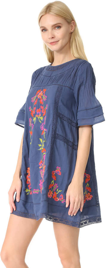 Free People Perfectly Victorian Embroidered Mini Dress 7