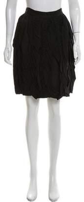Lanvin Knee-Length Ruffle-Accented Skirt