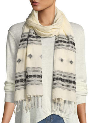 Eileen Fisher Hand-Loomed Organic Cotton Scarf