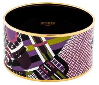 Hermes Extra Large Enamel Bangle
