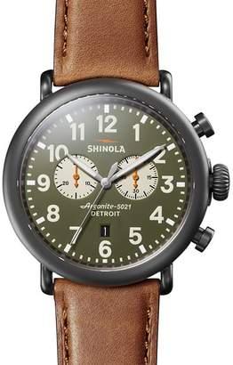 Shinola Runwell Green Dial Chronograph, 47mm