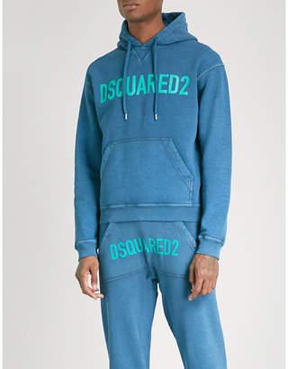 DSQUARED2 Logo-print cotton-jersey hoody