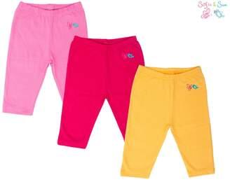 SAM. Sofie & Organic Cotton 3 pack Combo Baby Pajama - Pink, Magenta & Yellow