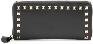 Valentino Rockstud leather zip-around wallet