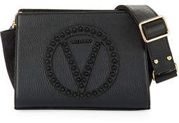 Mario Valentino Valentino By Kiki Rock Dollaro Leather Crossbody Bag