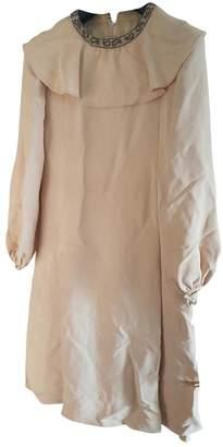 BEIGE Non Signé / Unsigned Non Signe / Unsigned Cotton Dress for Women Vintage