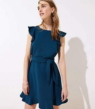 LOFT Flutter Tie Waist Dress