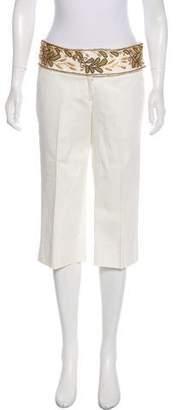 Robert Rodriguez Embellished Wide-Leg Cropped Pants
