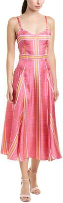 Prabal Gurung Alicia Silk Midi Dress