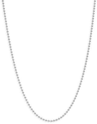 """Dodo Sterling Silver Everyday Chain Ball Chain Necklace, 15.7"""""""